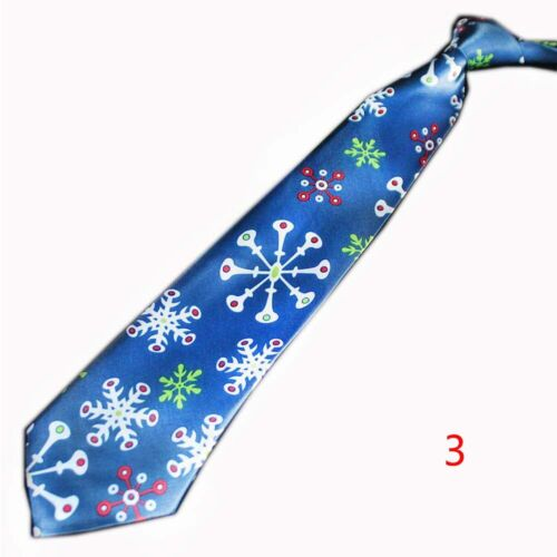 Polyester Blue Women Santa Claus Red Necktie Christmas Tie Festival Gift Tie