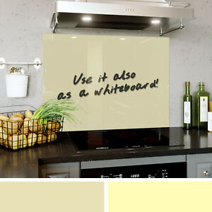 Kitchen Tempered Glass Splashback Whiteboard Panel Shades Of ...