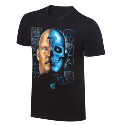 "Stone Cold Steve Austin  /""Face//Skull/"" Retro T-Shirt Official WWE"