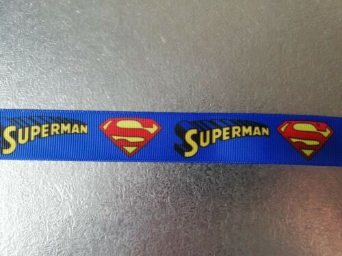 1 Mt  Grosgrain SUPERMAN Ribbon 22 mm