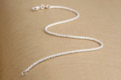 """Chaîne Cheville Argent """"whipped Silver Cream"""" Fine Anklets Fine Jewelry Envoi De France Immédiat"""