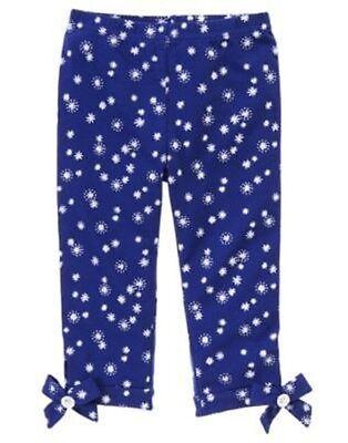 GYMBOREE SHIMMER & TWIRL BLUE SNOWFLAKE BOW LEGGINGS 6 12 18 2T 3T 4T 5T NWT
