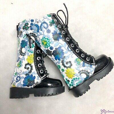 MSD DOC 1//4 bjd doll Shoes PU Leather Causal Boots Black /& Purple SHM041BPE