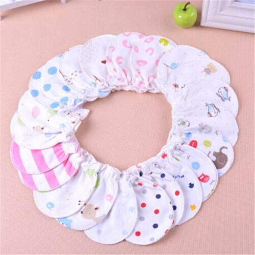 Cute Cotton Newborn Baby Infant Anti   Mittens Gloves Handguard 0-6M PVCA