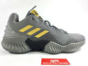 644e2eddd NEW! ADIDAS PRO BOUNCE LOW 2018 AH2683 - Mens Grey Gold Basketball ...