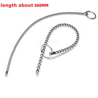 Urethral Sound Stainless Steel Beads 260mm Long Plug Stretching Dilator