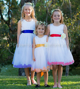 Flower-Girl-Pageant-Wedding-Party-Dress-Flowergirl-Birthday-Petal-Size-1-12-yrs