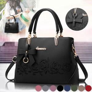 Women-Leather-Handbag-Shoulder-Bag-Ladies-Purse-Tote-Messenger-Satchel-Crossbody