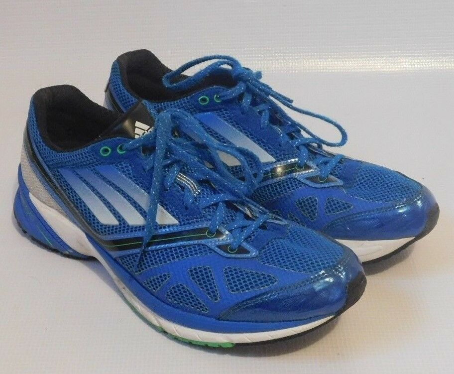 Mens ADIDAS Adizero Tempo bluee Fly Knit Running Training Sneakers shoes Size 9