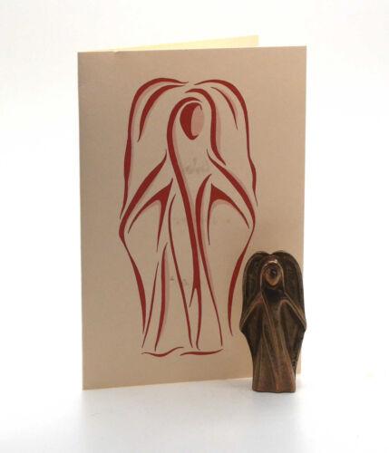 Schutzengel Handschmeichler Geschenkbox Engel Figur Bronze mit Geschenk Karte