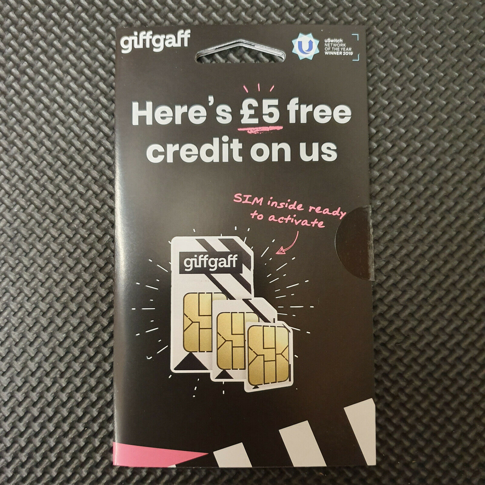 Giffgaff Giff Gaff Nano/Micro/Standard 3 in 1 SIM FREE £5 UK CARD for Samsung