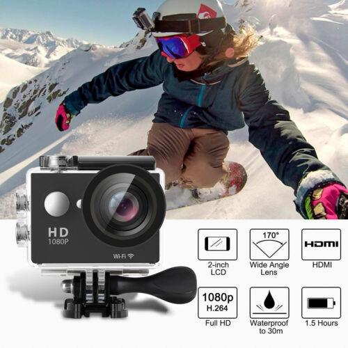 1080P HD Sports Camera WIFI Mini DV Carry Case Bundle Action Camcorder SJ4000-i