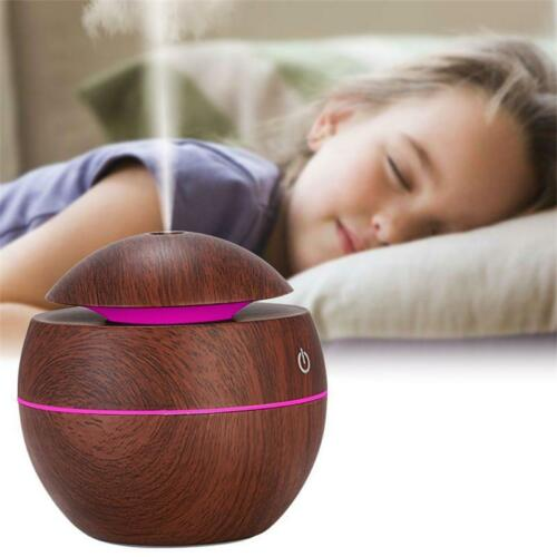 USB LED Ultrasonic Air Humidifier Essential Aroma Oil Diffuser Purifier Home QE