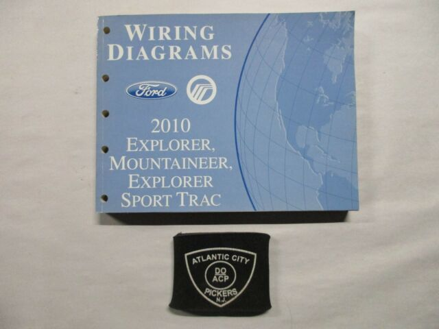 2010 Ford Explorer Mercury Mountaineer Sport Trac Wiring Diagrams Service Manual