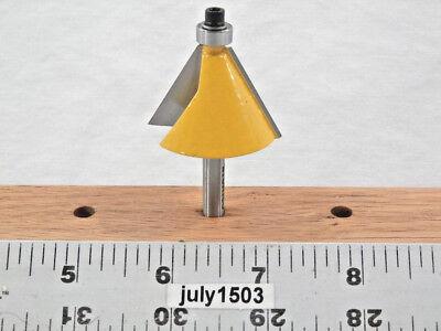 "NEW  5//8/"" D 10° Trim//Chamfer Carbide Tipped Router Bit Bearing qw 1"