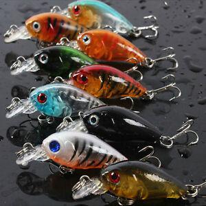 Fishing-Lures-Baits-Vivid-Crankbaits-Hooks-Minnow-Baits-Tackle-4-5cm-4g-IJ