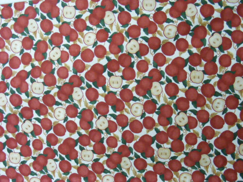 "Cheater Quilt Fabric By The Yard,N12,/""Tossed Apples/"",Sew,Quilt,Craft"