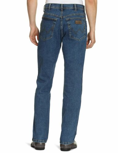 Jeans Stretch Fit Texas Tutte Wrangler misure gamba Regular Stone Denim le dritta Blue w5aXqdtq