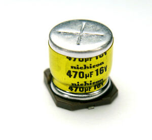 10pcs Nichicon Ur 470uf 16v Radial Electrolytic Capacitor