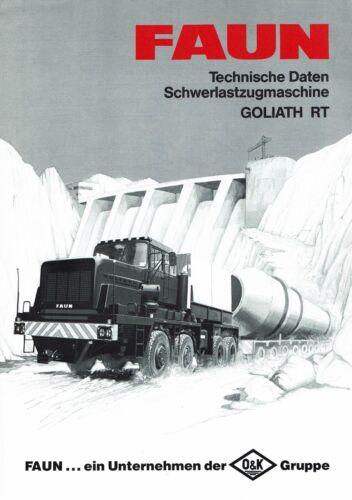 FAUN Zugmaschine Goliath RT Technische Daten deutsch Original Faun Prospekt