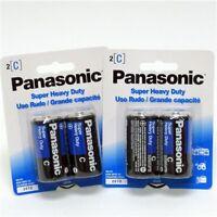 6 Size C Panasonic Super Heavy Duty Batteries - 3 X 2 Packs