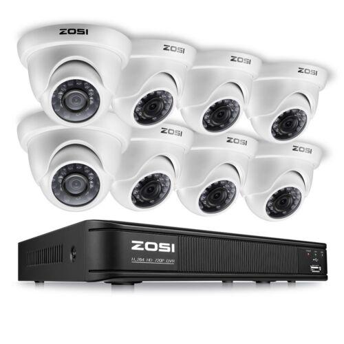 8CAM Security Camera System 720P Wireless DVR Kit HD IR WIFI CCTV Outdoor/Indoor
