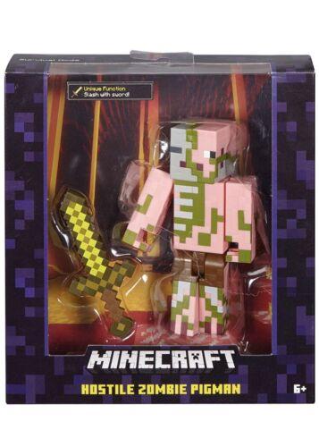 Minecraft Zombie Guardiano con spada Action Figure in movimento braccio rare-scatola danneggiata