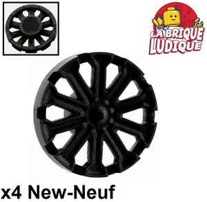 Lego 4x roue jante wheel cover enjoliver T for 18976 noir//black 18979a NEUF