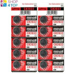 10 MAXELL CR2032 LITHIUM BATTERIES 3V COIN CELL BUTTON DL2032 EXP 2025 NEW