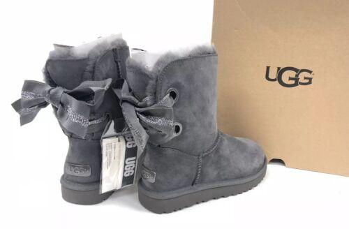 Boots en peau Bailey mouton Australia 1098075 Bow Short de Ugg Charcoal hrtdCsQx