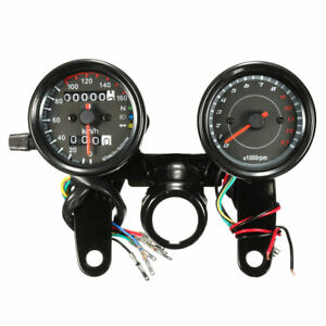 Universal-Motorcycle-Odometer-amp-Tachometer-Speedometer-Gauge-Meter-LED-Light