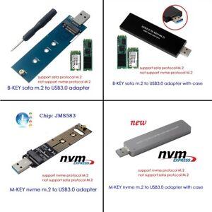 NGFF M.2 NVME SSD SATA SSD to USB3.0 adapter card reader test card Hard disk box