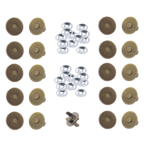 Round Magnetic Snap Clasps 14mm//18mm for Purses Bags DIY Leathercraft Projects