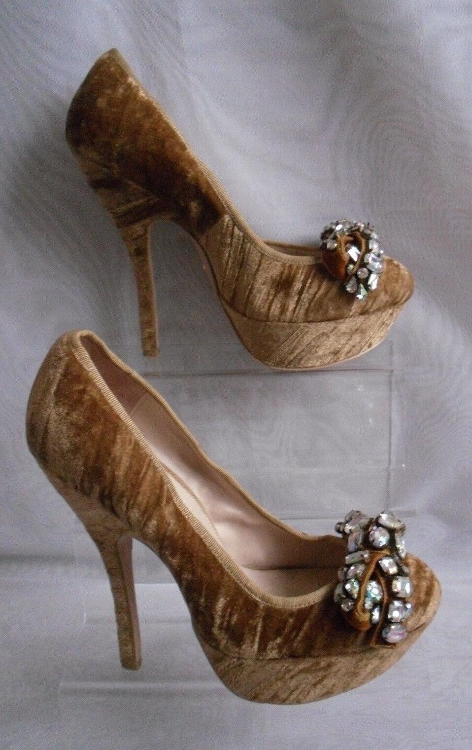 Kg-Kurt Geiger para Mujer Beis Terciopelo Terciopelo Terciopelo Delgado Tacón Alto Tribunal Zapatos Talla  5 38 (WHS209)  bajo precio del 40%