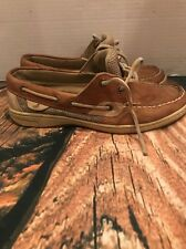 Sperry Top-Sider  Womens 7 Tan Leater Bluefish 2 Eye Boat Shoes