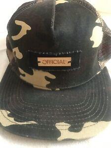 Decky Camouflage Foam Trucker 5 Panel High Crown Hats Caps Snapback