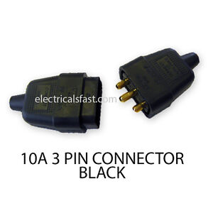 3-Pin-In-Line-Rubber-Feel-Connector-10A-Black