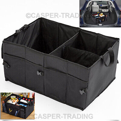 Car Boot Tidy Bag Trunk Organiser Travel Holder Foldable Collapsible Storage Box