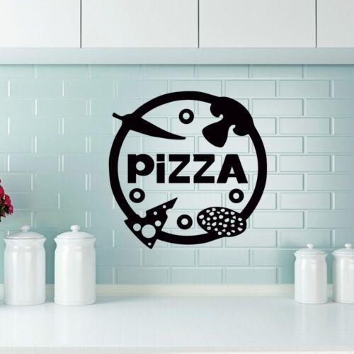 Pizza Decorative Sticker Waterproof Home Decor for Living Room Company School