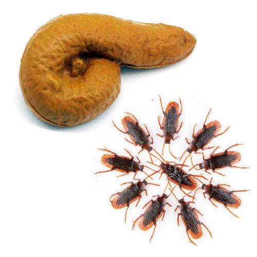 Novelty Funny Joke Turd Gag Gift Fake Poop Roaches Prank Trick Toys