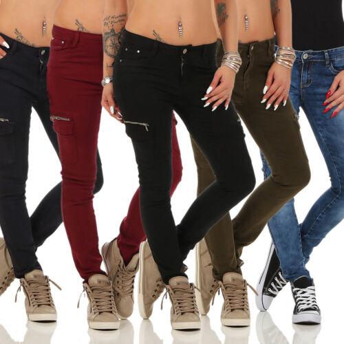 JEANS da Donna Jeans a Sigaretta Pantaloni Denim Boyfriend Tubo Jeans da donna Cargo Style