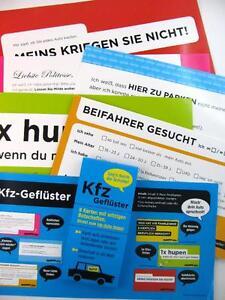Kfz Geflüster 6 Witzige Karten Für Das Mobile Autoleben Ebay