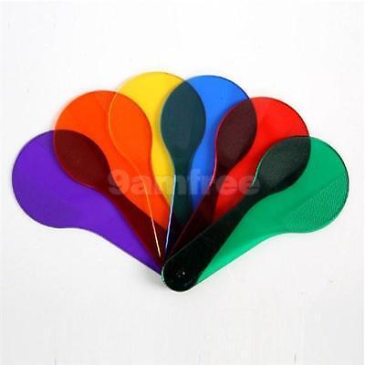 6 pcs Racket Color Cards Kid Preschool painting education teaching aid prop toy