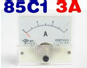 85C1-A-Analog-DC-0-3A-Current-Tester-Ammeter-AMP-Panel-Meter
