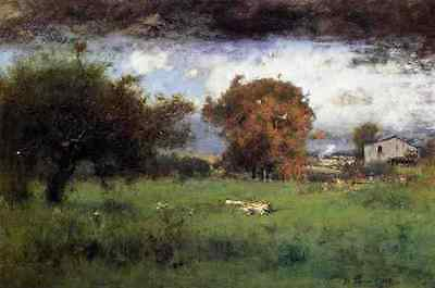 Inness George Early Autumn Montclair2 A4 Print Pure Whiteness Art