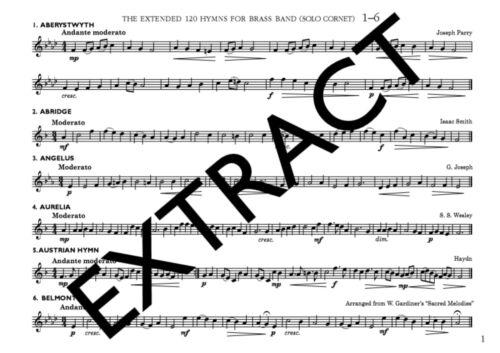 Standard Edition 120 Hymns for Brass Band Music A5 2nd Bb Cornet Part Book