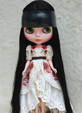 "12"" Takara Neo Blythe Dolls From Factory Nude Dolls Black Straight Hair 538R"
