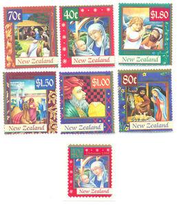 Nouvelle-zélande - 1998 De Noël Set De 7 Neuf Sans Charnière (2189-5) Couleurs Fantaisie