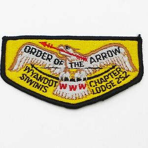 Siwinis-Lodge-252-Wyandot-Chapter-OA-Boy-Scout-Flap-Patch-BSA-WWW-Black-border