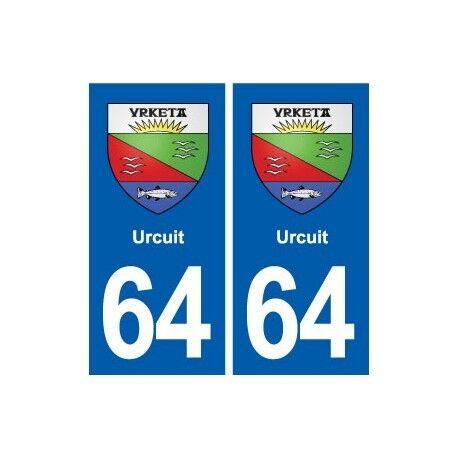 64 Urcuit blason autocollant plaque stickers ville arrondis